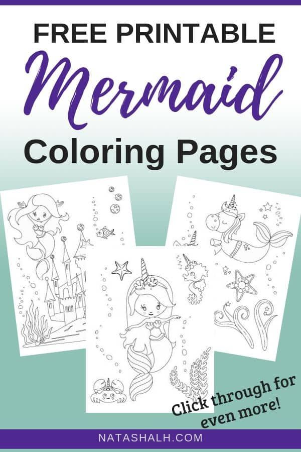 11 Free Printable Mermaid Coloring Pages No Prep Activity For Kids Mermaid Coloring Pages Coloring Pages For Kids Summer Coloring Pages