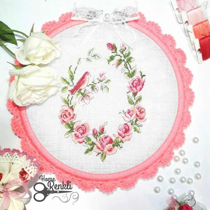 Kanaviçe pano crossstitch embroidery kasnak kuş şablonu etamin