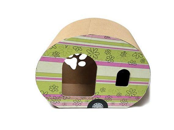 Lili Roulotte cat vintage caravan pet by bottegadicartone on Etsy
