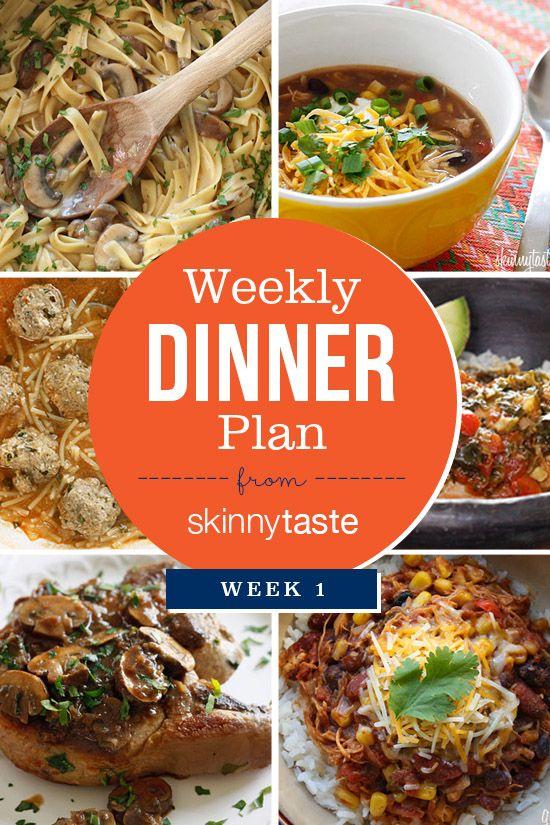 Skinnytaste Weekly Dinner Plan (Week 1)