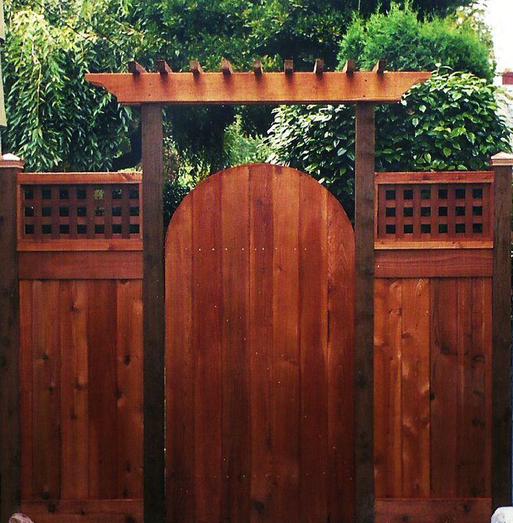 Best 25 cedar fence ideas on pinterest for Wooden garden gate plans and designs