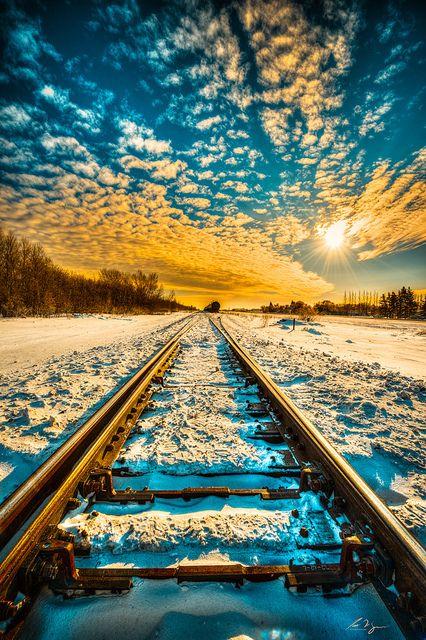 Snow Rail, Saskatchewan, Canada