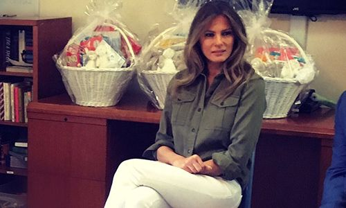 Melania Trump visits home for abused kids and it barely makes local news … press covers her SHOES!