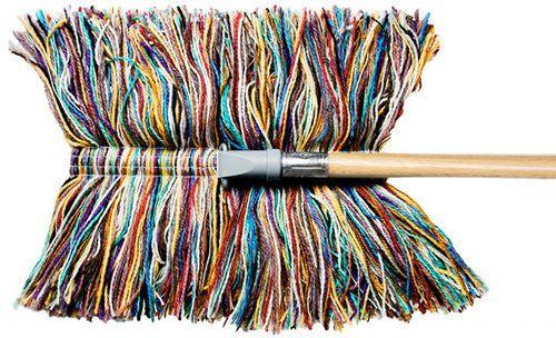 wool dry mop // slack dust mop company