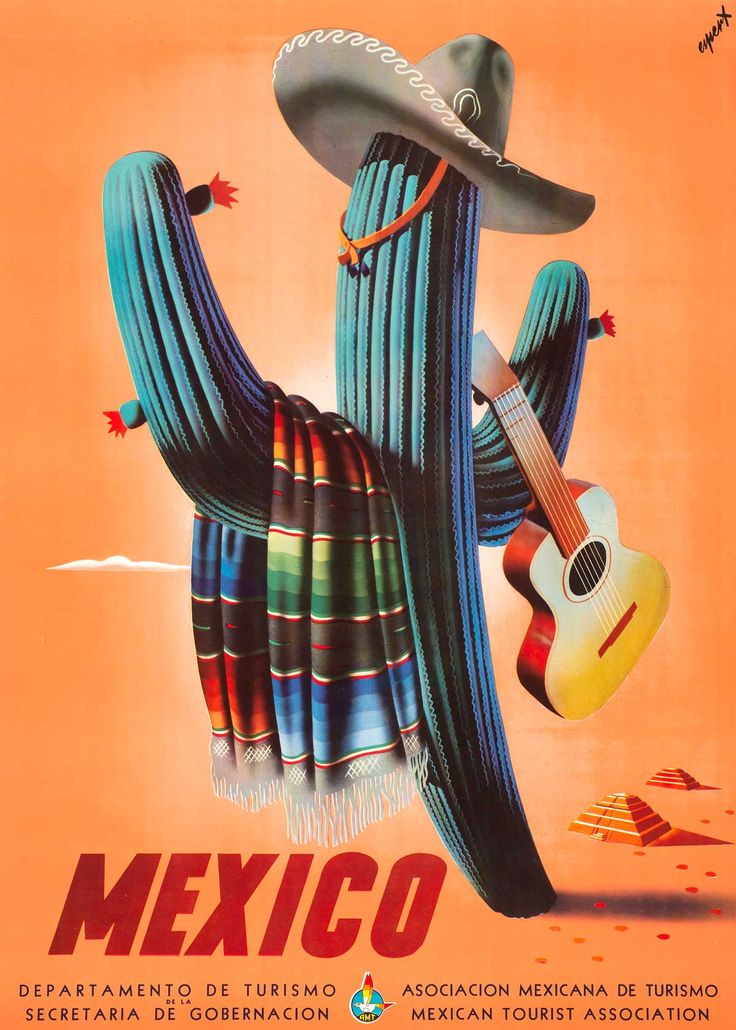 Take home a little bit of Mexico with vintage travel postcards