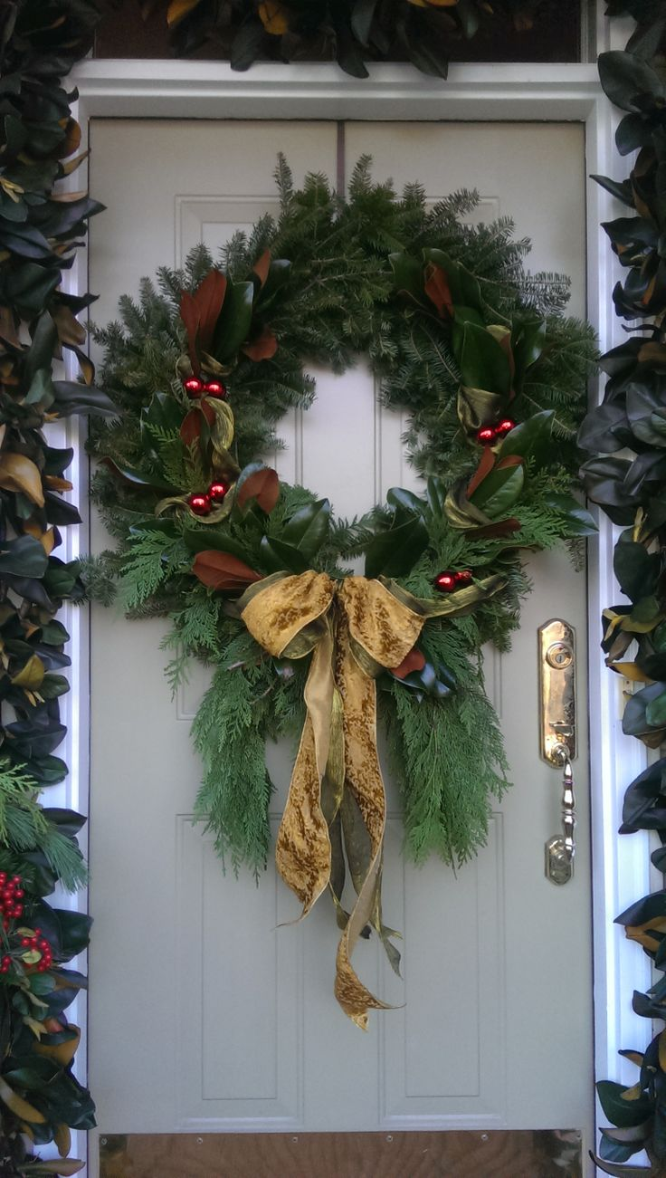 Front door christmas wreaths - Find This Pin And More On Christmas Wreaths Door Outside Accessories By Sharonwalea