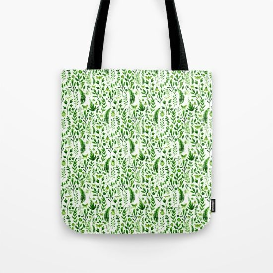 Flora and Fauna seamless pattern Tote Bag
