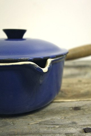 Vintage Le Creuset Blue Saucepan  #LeCreuset #Vintage