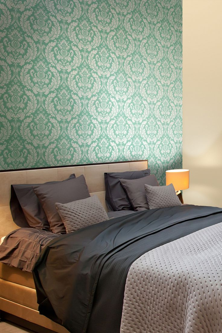 Damask Heritage Removable Wall Decal - Teal on HauteLook