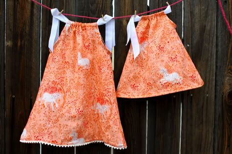 great tutorial on pillow case dresses - lots of photos