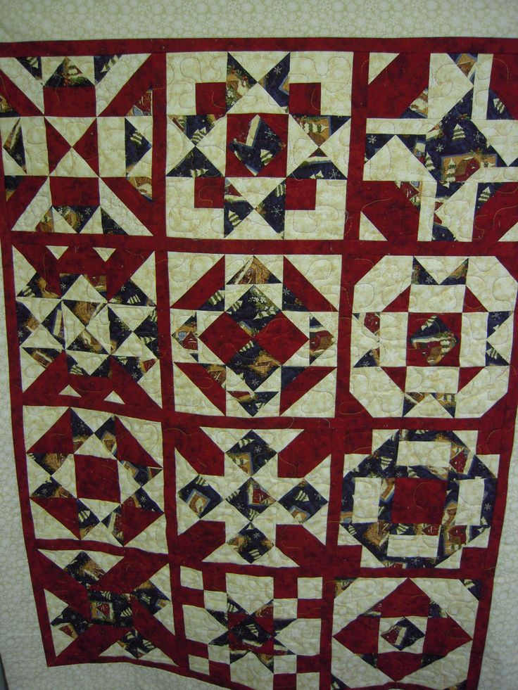 a Christmas quilt