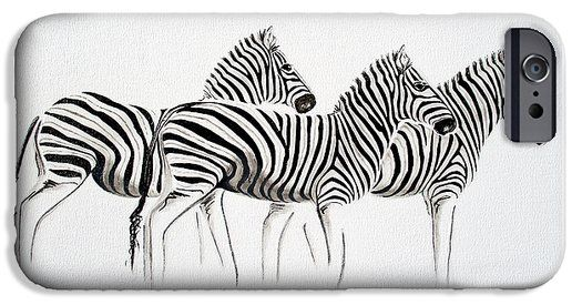 Zebra Scape iPhone 6 Case by Tracey Armstrong