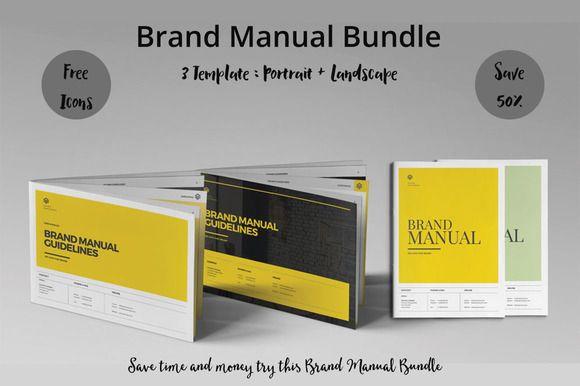 Brand Manual Bundle by fahmie on @creativemarket #bundle #BrandManual #guide #logo #template Download https://crmrkt.com/R7ep8