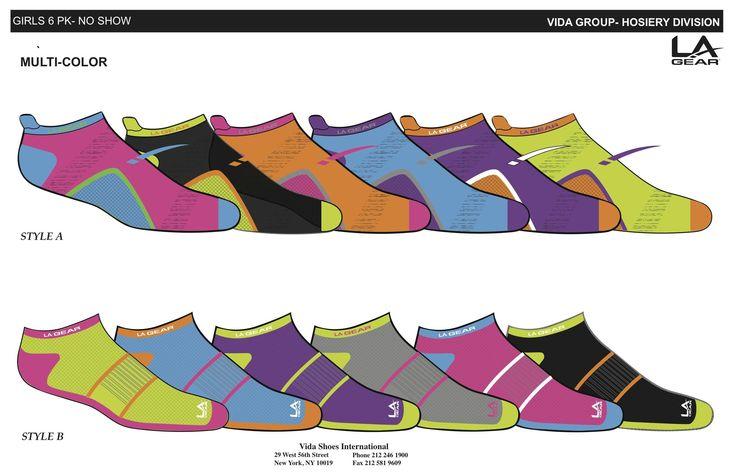 Socks designed for LA Gear as a possible customer …