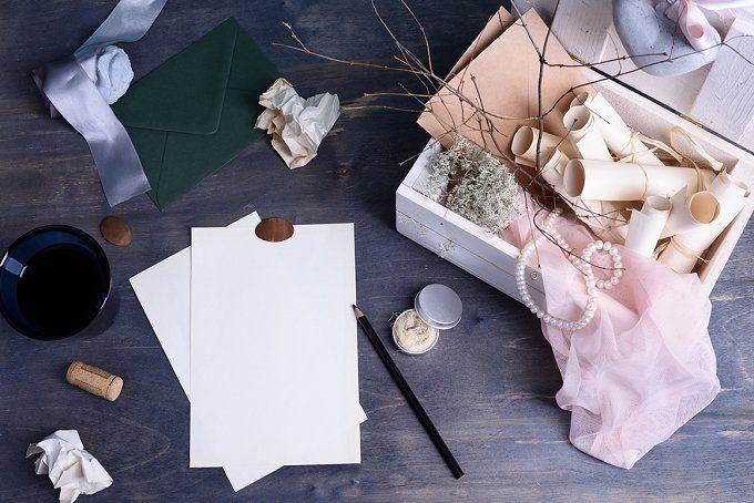 Romantic valentines love letter by Iuliia Leonova on @creativemarket
