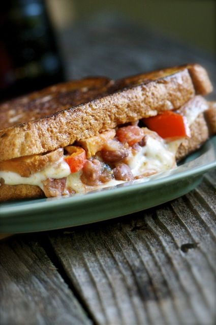Southwestern Grilled Cheese Sandwich via @Marly | Namely Marly