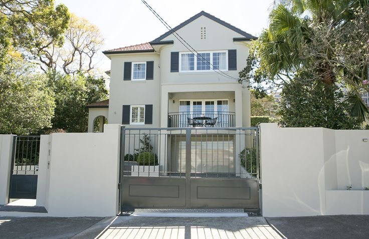 Give your home a facelift with a new set of entry gates and a fully-tiled entrance courtyard. www.brindabellahomeimprovements.com.au