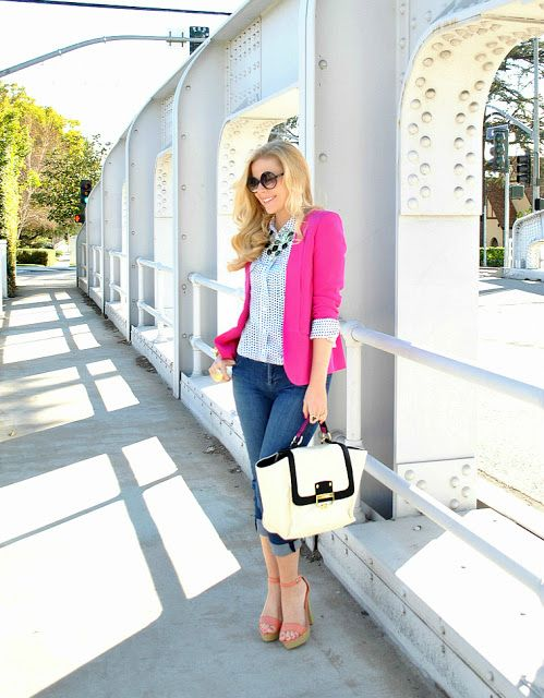 Fall Style | Hot Pink Blazer