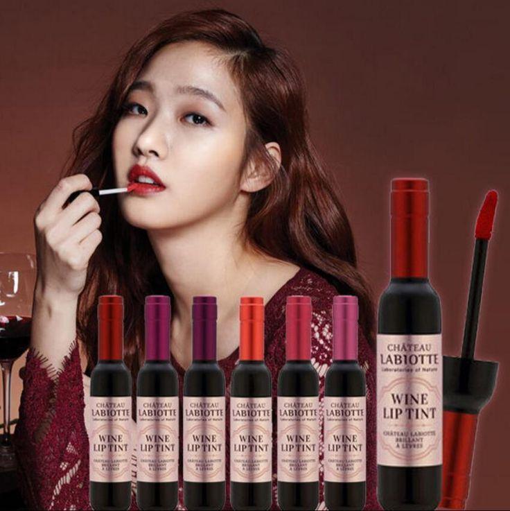 Choose the most beautiful lip gloss wine lip tint liquid labiotte chateau wine…