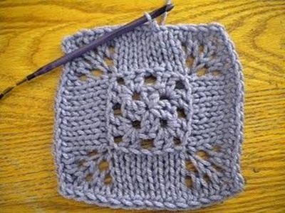 Knooked Granny Square (free knook pattern) by Ronda Chapman