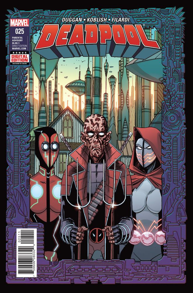 DEADPOOL #25 DIGITAL CODE ONLY 2016 MARVEL 2099 LIST PRICE $5.99