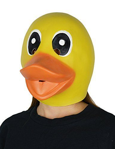 LarpGears Halloween Party Costume Full Head Animal Mask Latex Duck Mask for Kids, http://www.amazon.com/dp/B01JMJE8RK/ref=cm_sw_r_pi_awdm_x_Jj1hybNKM7D72