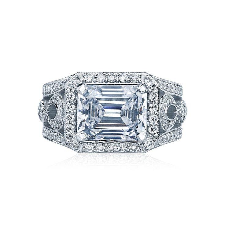 Tacori Style HT2610EC10X8 engagement ring: www.stylemepretty...