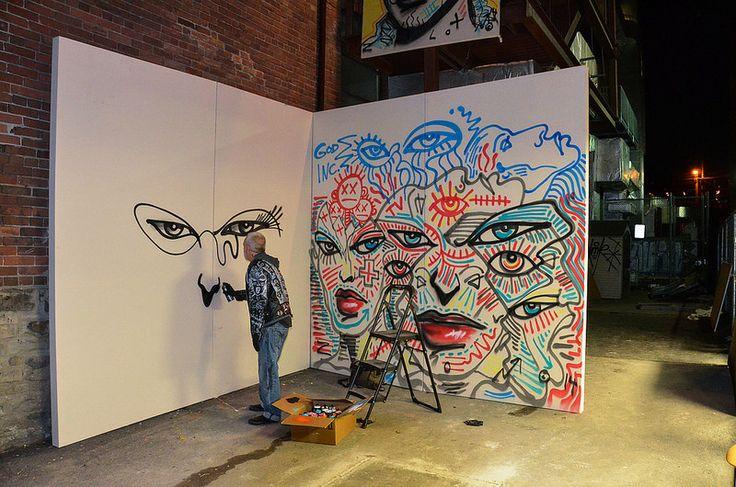 Nuit Blanche - The Spoke Club -  Live Performance by #Graffiti #Artist Zilon Lazer @zilonlazer