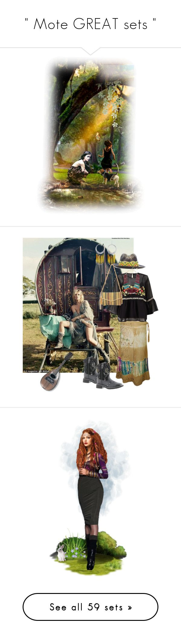 """ Mote GREAT sets "" by catyravenwood ❤ liked on Polyvore featuring art, gypsy, mygypsysoul, mygysysoul, modern, Night, stars, dollset, artset and J Brand"