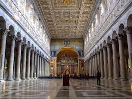 Interno della basilica di San Paolo fuori dalle mura.