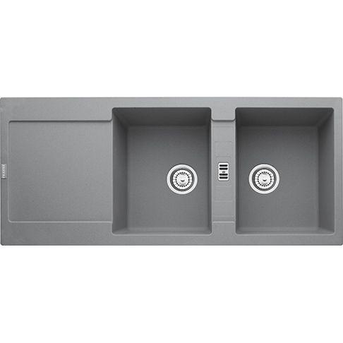 Franke Maris MRG 621, 461 euro | colore Stone Grey, bianco, nero, grafite| Lavello  doppia vasca 335x425 Lunghezza totale 1160 mm Larghezza totale 500 mm Foro Incasso 1140x480