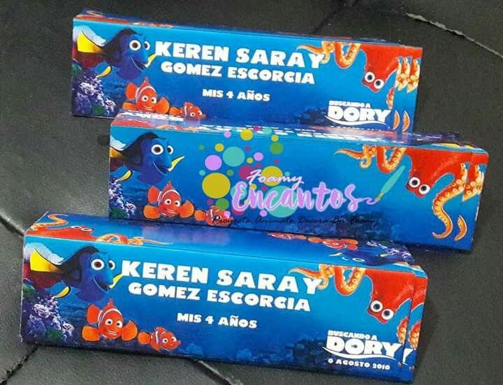Etiquetas personalizada dory para bolsas de dulces
