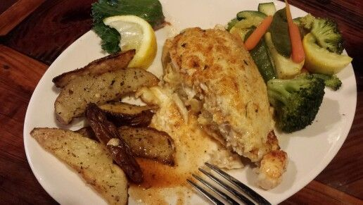 Stuffed flounder with crab