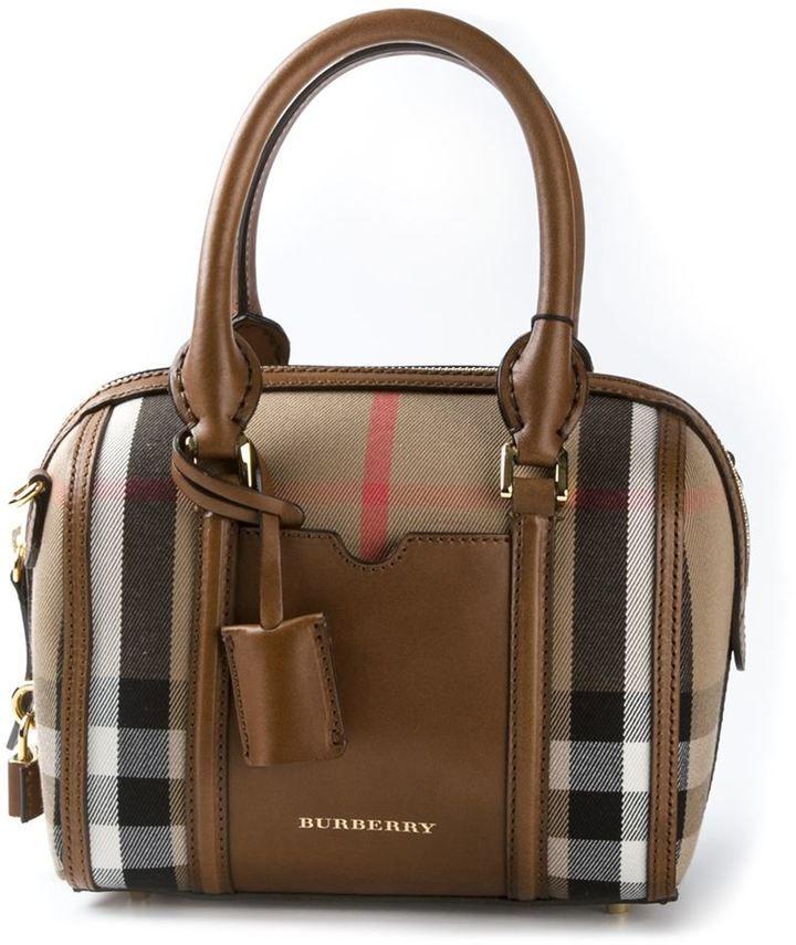 Burberry London 'Sartorial House' check mini bowling bag