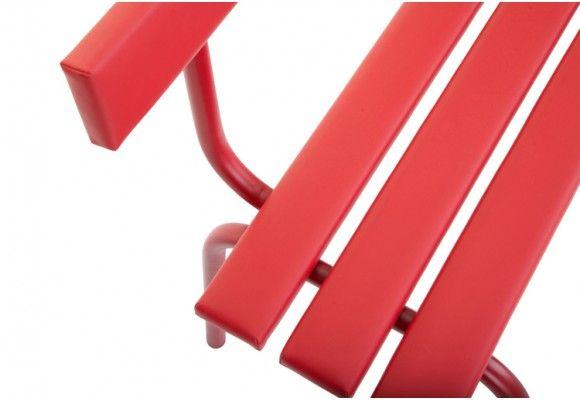 Eric Chevallier - Banc Saint Sulpice - L 140 cm - cuir rouge avec dossier