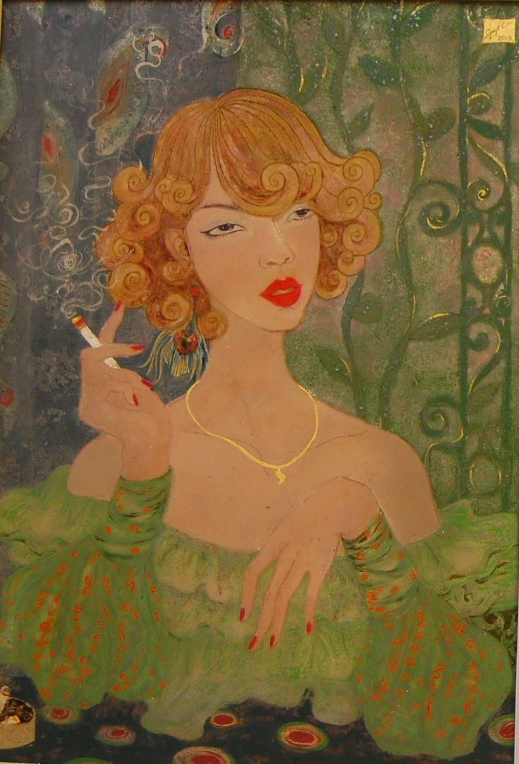 Title: Portrait Artist: Thuy Nguyet Size: 50 x 70cm year: 2013
