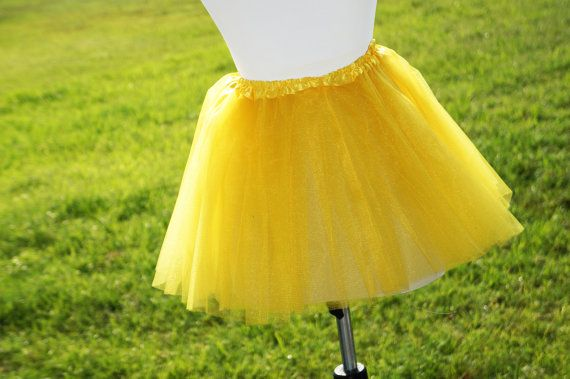 Adult Tutu yellow Tutu Adult yellow tutu  by MrsBsDigitalDesigns