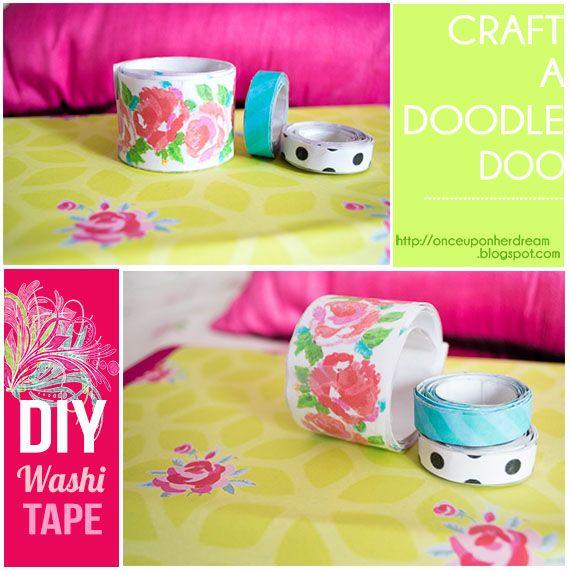 Craft A Doodle Doo: Inspiration Nation//DIY Washi Tape!