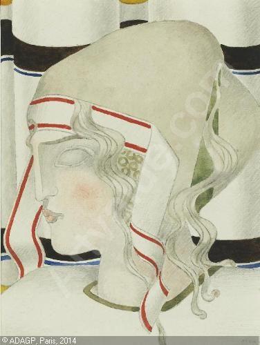 CSAKY Joseph - FEMME À LA COIFFE - 1924