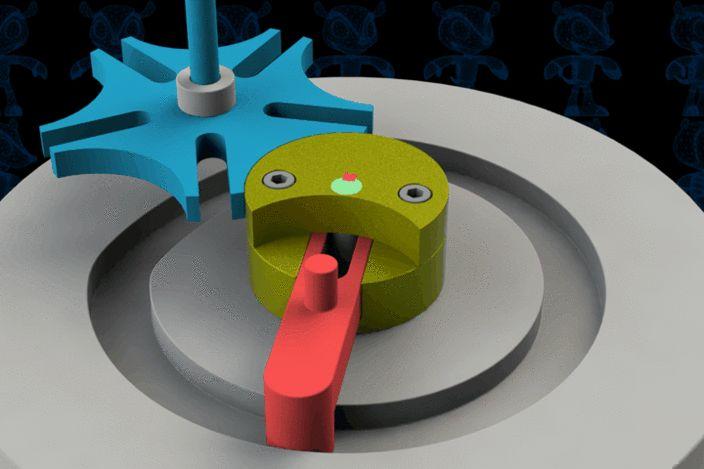 Slot Guided Geneva Mechanism