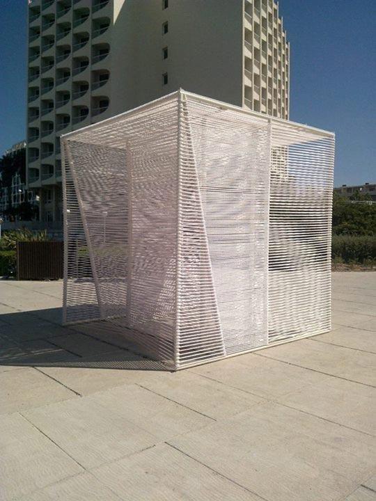 Rope – Sailing Cube Pavilion du FAV 2014 a Montpellier Paul KOZLOWSKI; ©photoarchitecture