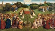The Ghent Altarpiece- Adoration of the Lamb 1425-29  by Jan Van Eyck