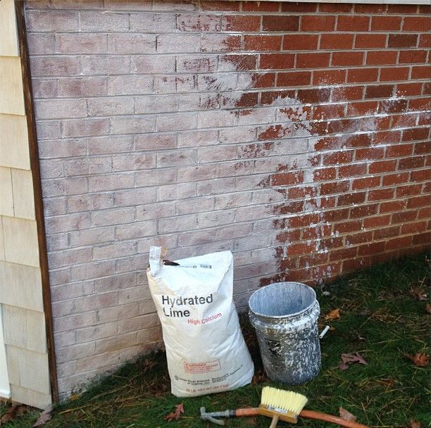 Limewash a great alternative to paint for brick home - How to whitewash brick house exterior ...