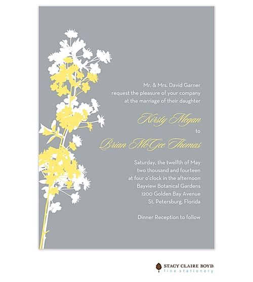 Gray and Yellow | Wedding Invitations | In The Meadow Invitation (SCB) | The Merry Invites Store