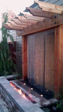 Would love to have water feature outside on back patio. Unique Fire and water feature - contemporary - prefab studios - indianapolis - Lite4 Outdoor Lighting