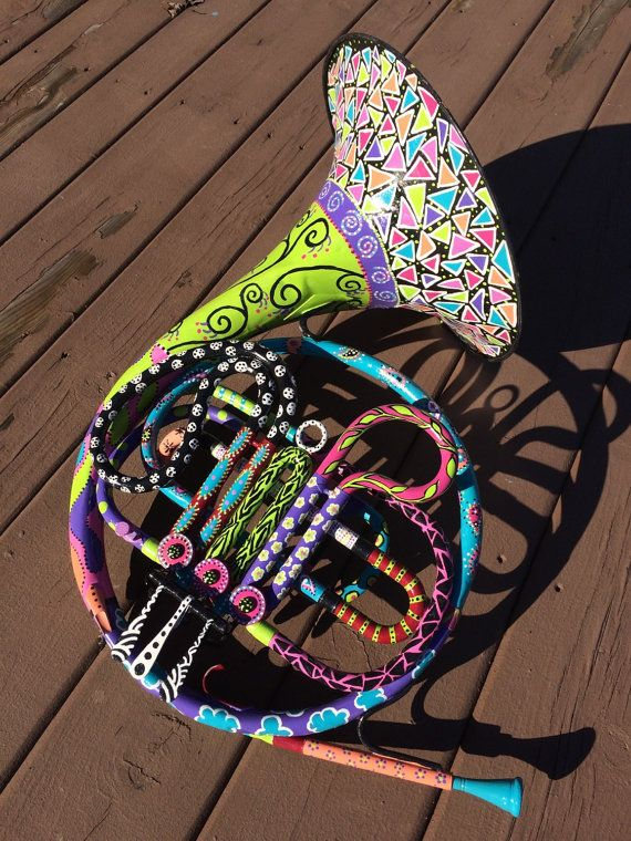 Funky French Horn by TheFunkyHouseOfLydia on Etsy