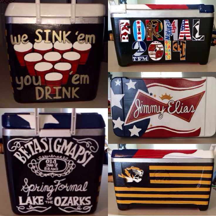 Cooler I made for beta sigma psi spring formal at the lake of the ozarks! Mizzou