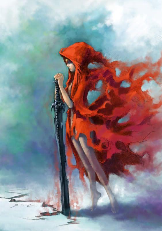 warrior red hood