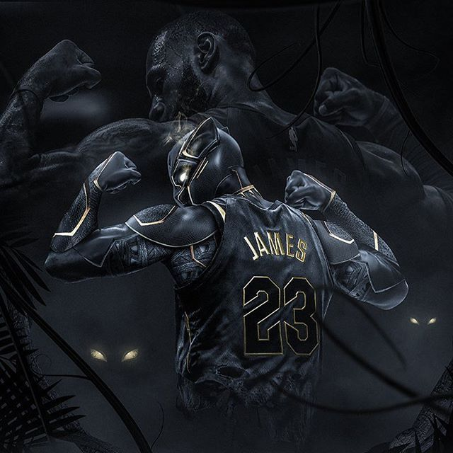 """Its kind of like the Black Panther movie How cool is that for kids to see that to have that superhero? Well LeBrons been that for a long time"""" Gregg Popovich #repre23nt #blackpanther #happypurim"""