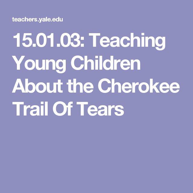 Trail of Tears.